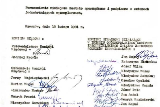 Protokół Porozumienia Rzeszowskiego [18.02.1981]